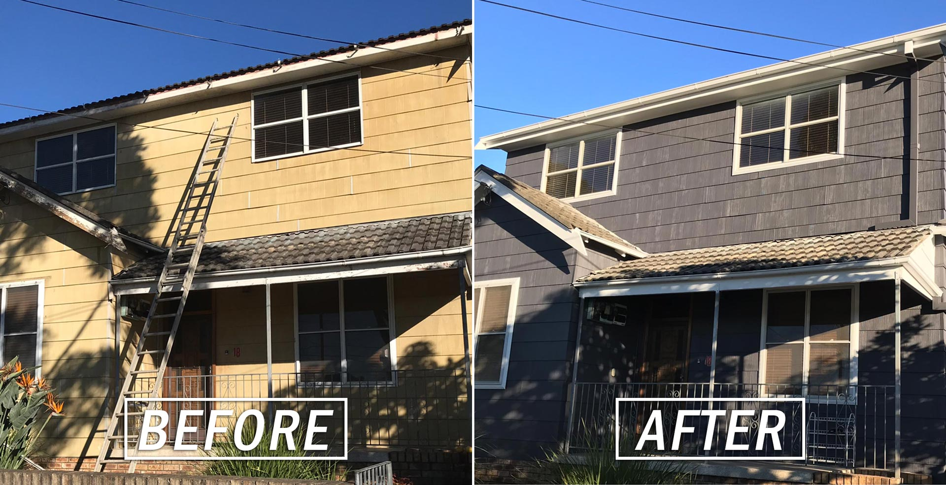 Before and After House External